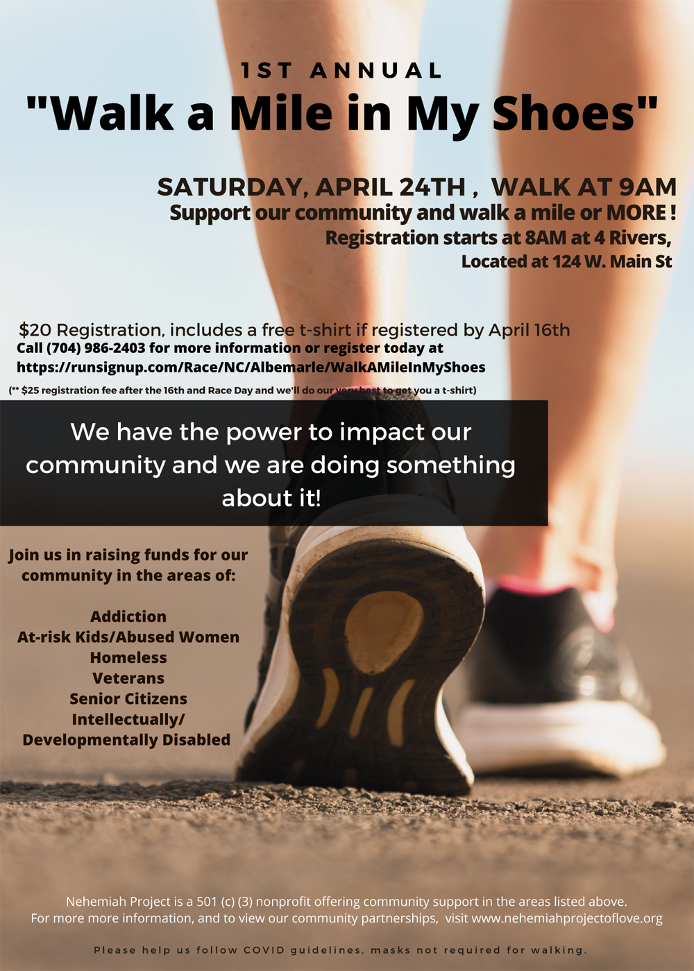 2021 Walk a Mile in My Shoes Event from Nehemiah Project